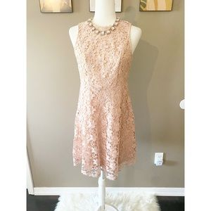 Chelsea & Violet Pink Lace Overlay Dress